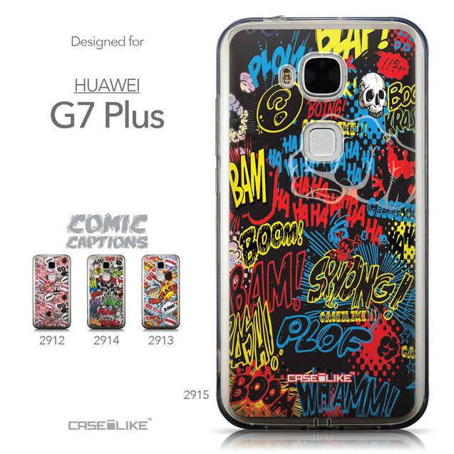 Collection - CASEiLIKE Huawei G7 Plus back cover Comic Captions Black 2915
