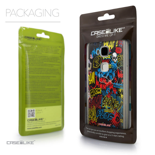 Packaging - CASEiLIKE Huawei G7 Plus back cover Comic Captions Black 2915