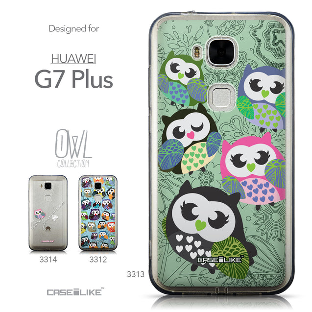 Collection - CASEiLIKE Huawei G7 Plus back cover Owl Graphic Design 3313