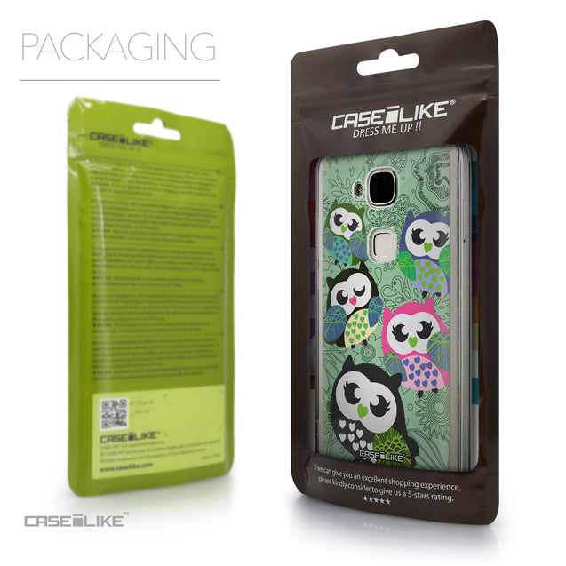 Packaging - CASEiLIKE Huawei G7 Plus back cover Owl Graphic Design 3313