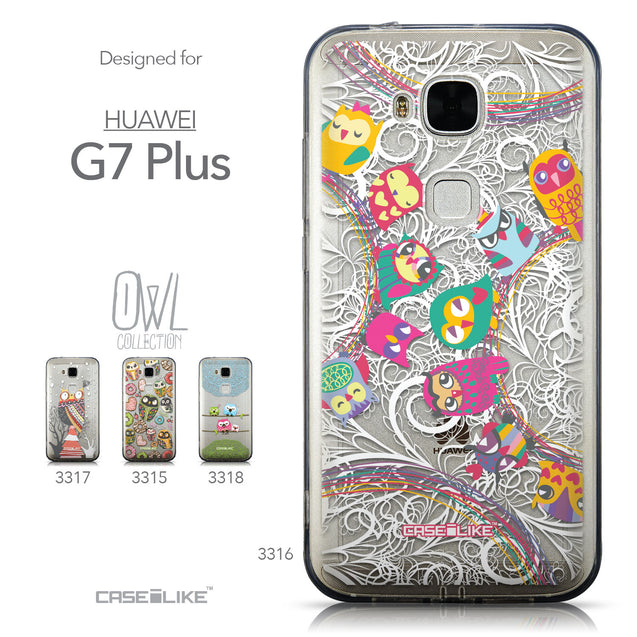 Collection - CASEiLIKE Huawei G7 Plus back cover Owl Graphic Design 3316