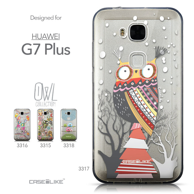 Collection - CASEiLIKE Huawei G7 Plus back cover Owl Graphic Design 3317