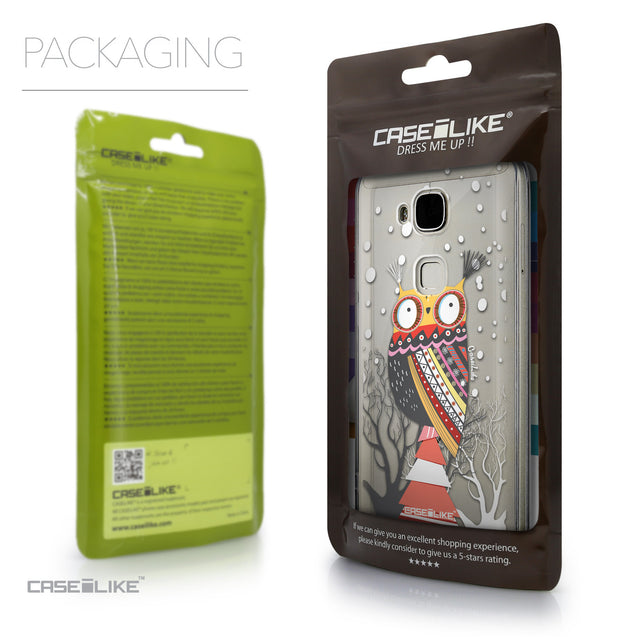 Packaging - CASEiLIKE Huawei G7 Plus back cover Owl Graphic Design 3317
