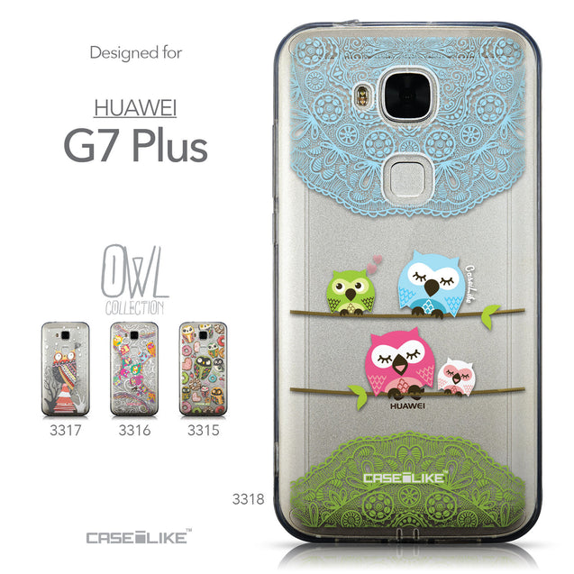 Collection - CASEiLIKE Huawei G7 Plus back cover Owl Graphic Design 3318