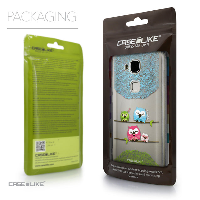 Packaging - CASEiLIKE Huawei G7 Plus back cover Owl Graphic Design 3318
