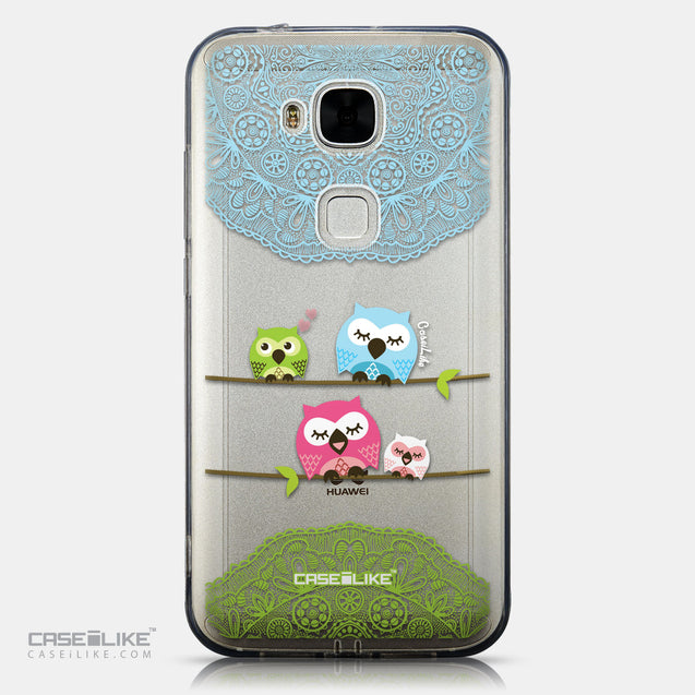 CASEiLIKE Huawei G7 Plus back cover Owl Graphic Design 3318