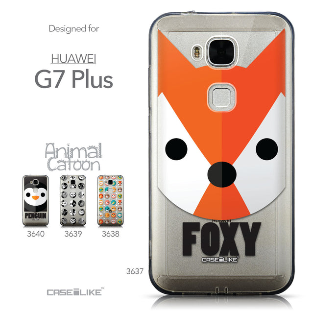 Collection - CASEiLIKE Huawei G7 Plus back cover Animal Cartoon 3637