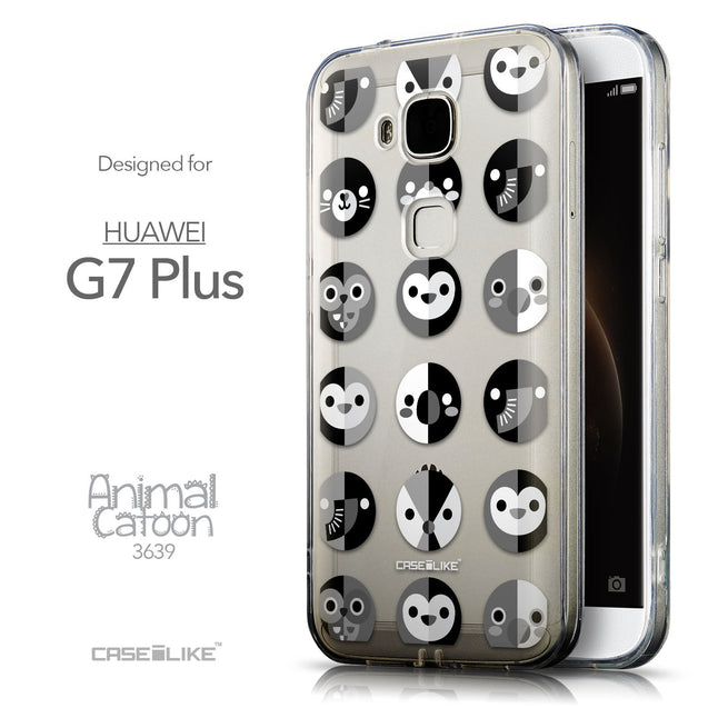 Front & Side View - CASEiLIKE Huawei G7 Plus back cover Animal Cartoon 3639