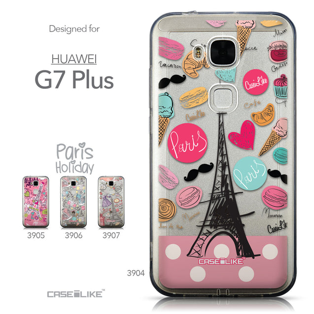 Collection - CASEiLIKE Huawei G7 Plus back cover Paris Holiday 3904