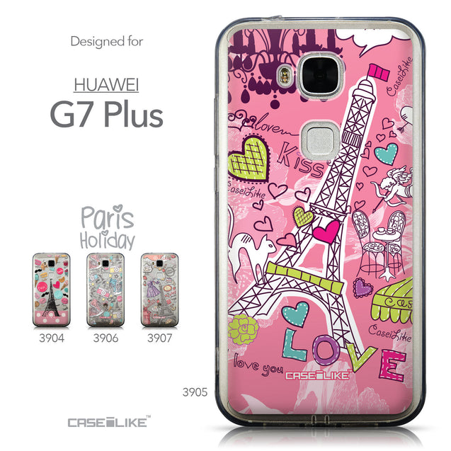 Collection - CASEiLIKE Huawei G7 Plus back cover Paris Holiday 3905