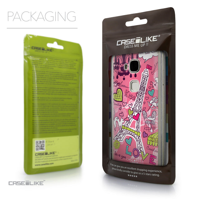 Packaging - CASEiLIKE Huawei G7 Plus back cover Paris Holiday 3905