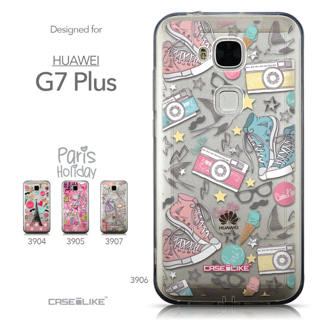 Collection - CASEiLIKE Huawei G7 Plus back cover Paris Holiday 3906