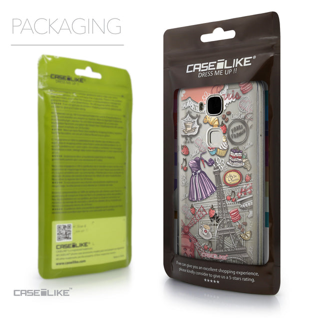 Packaging - CASEiLIKE Huawei G7 Plus back cover Paris Holiday 3907