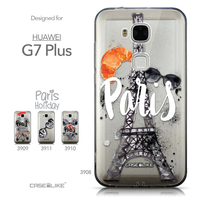 Collection - CASEiLIKE Huawei G7 Plus back cover Paris Holiday 3908