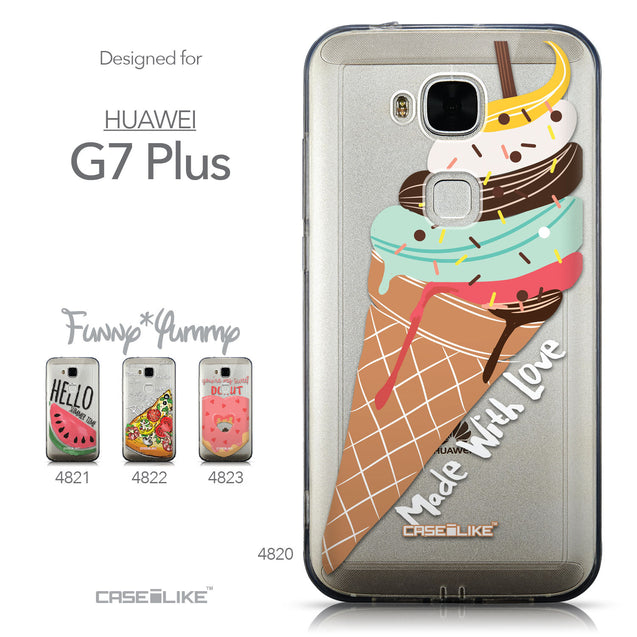 Collection - CASEiLIKE Huawei G7 Plus back cover Ice Cream 4820
