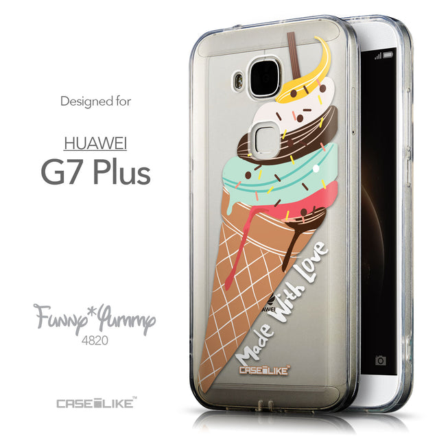 Front & Side View - CASEiLIKE Huawei G7 Plus back cover Ice Cream 4820