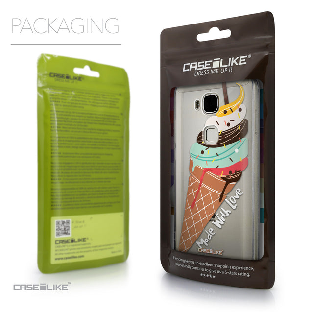Packaging - CASEiLIKE Huawei G7 Plus back cover Ice Cream 4820