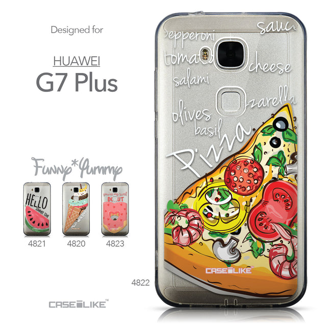 Collection - CASEiLIKE Huawei G7 Plus back cover Pizza 4822