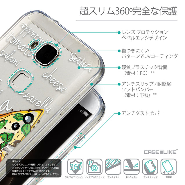 Details in Japanese - CASEiLIKE Huawei G7 Plus back cover Pizza 4822