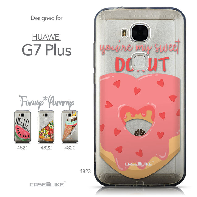Collection - CASEiLIKE Huawei G7 Plus back cover Dounuts 4823