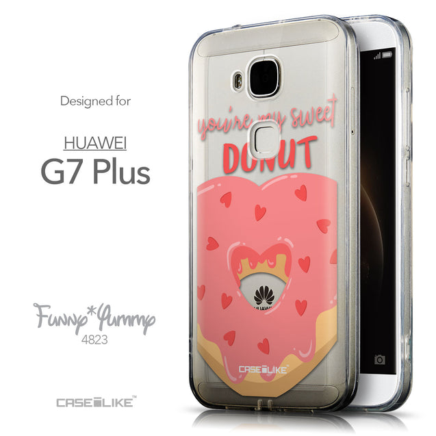 Front & Side View - CASEiLIKE Huawei G7 Plus back cover Dounuts 4823