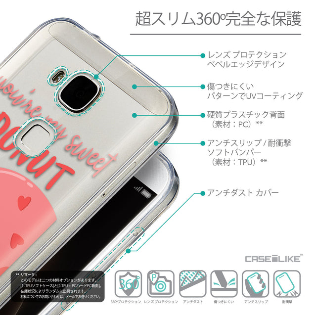 Details in Japanese - CASEiLIKE Huawei G7 Plus back cover Dounuts 4823