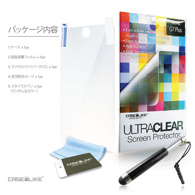 CASEiLIKE FREE Stylus and Screen Protector included for Huawei G7 Plus back cover in Japanese