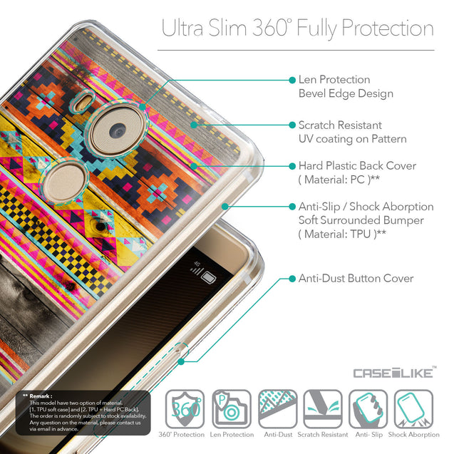 Details in English - CASEiLIKE Huawei Mate 8 back cover Indian Tribal Theme Pattern 2048