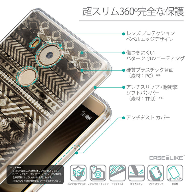 Details in Japanese - CASEiLIKE Huawei Mate 8 back cover Indian Tribal Theme Pattern 2050