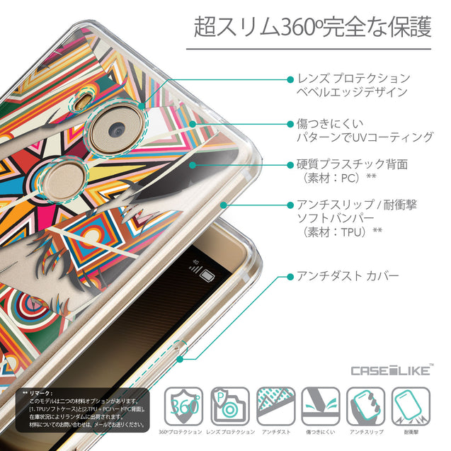 Details in Japanese - CASEiLIKE Huawei Mate 8 back cover Indian Tribal Theme Pattern 2054