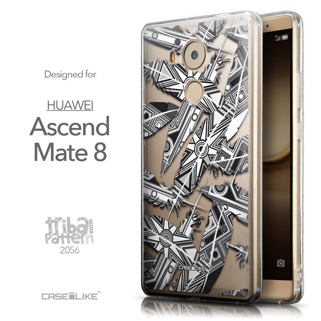 Front & Side View - CASEiLIKE Huawei Mate 8 back cover Indian Tribal Theme Pattern 2056
