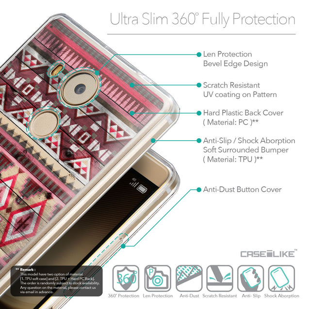 Details in English - CASEiLIKE Huawei Mate 8 back cover Indian Tribal Theme Pattern 2057