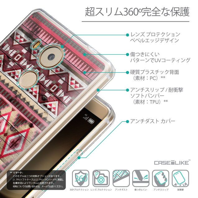 Details in Japanese - CASEiLIKE Huawei Mate 8 back cover Indian Tribal Theme Pattern 2057
