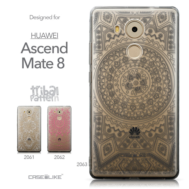 Collection - CASEiLIKE Huawei Mate 8 back cover Indian Line Art 2063