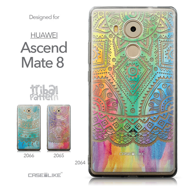 Collection - CASEiLIKE Huawei Mate 8 back cover Indian Line Art 2064
