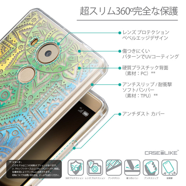 Details in Japanese - CASEiLIKE Huawei Mate 8 back cover Indian Line Art 2064