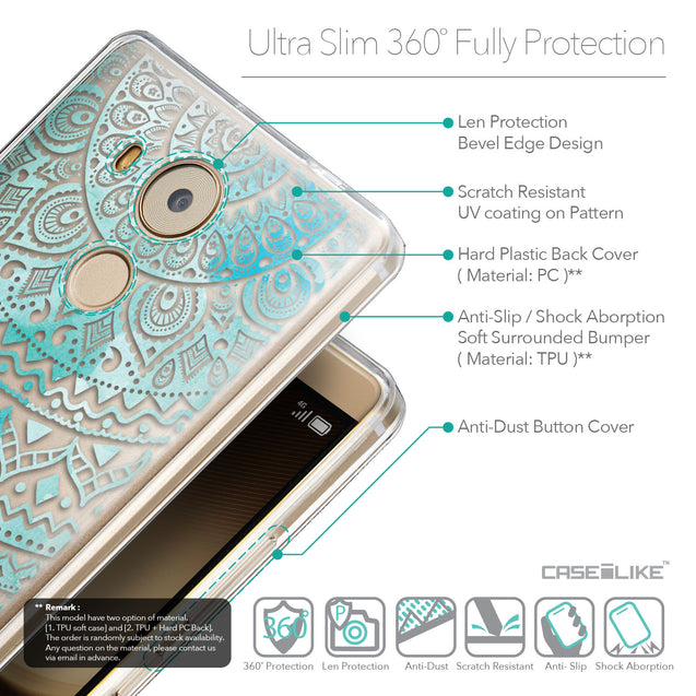 Details in English - CASEiLIKE Huawei Mate 8 back cover Indian Line Art 2066