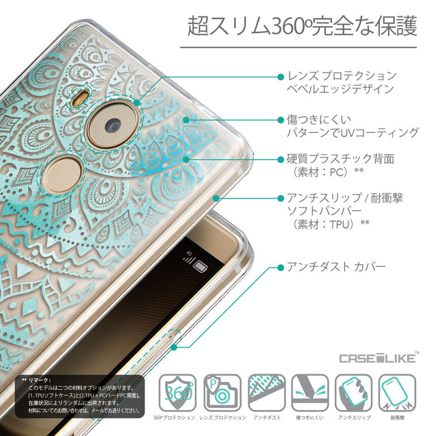 Details in Japanese - CASEiLIKE Huawei Mate 8 back cover Indian Line Art 2066