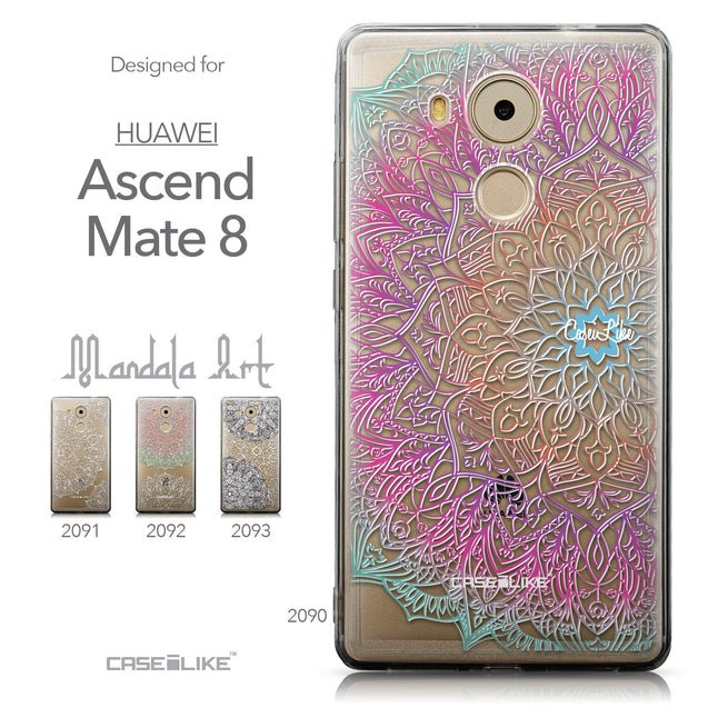 Collection - CASEiLIKE Huawei Mate 8 back cover Mandala Art 2090