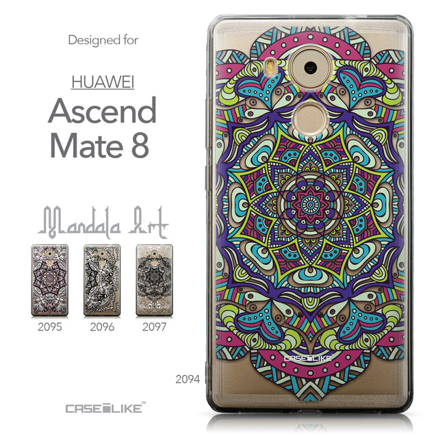 Collection - CASEiLIKE Huawei Mate 8 back cover Mandala Art 2094