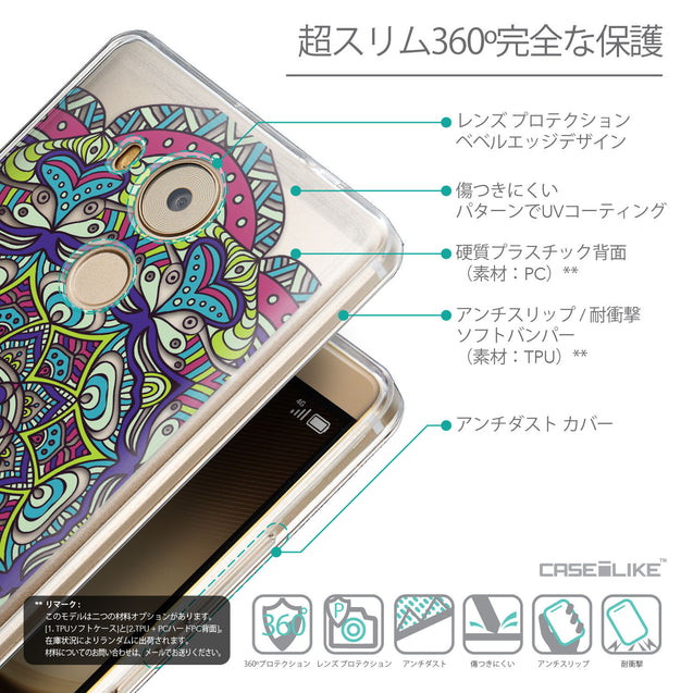 Details in Japanese - CASEiLIKE Huawei Mate 8 back cover Mandala Art 2094