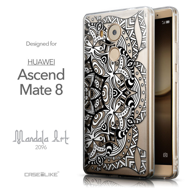 Front & Side View - CASEiLIKE Huawei Mate 8 back cover Mandala Art 2096