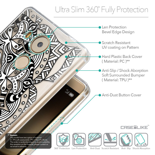 Details in English - CASEiLIKE Huawei Mate 8 back cover Mandala Art 2096