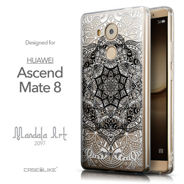 Front & Side View - CASEiLIKE Huawei Mate 8 back cover Mandala Art 2097