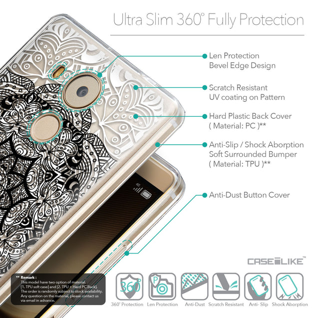 Details in English - CASEiLIKE Huawei Mate 8 back cover Mandala Art 2097