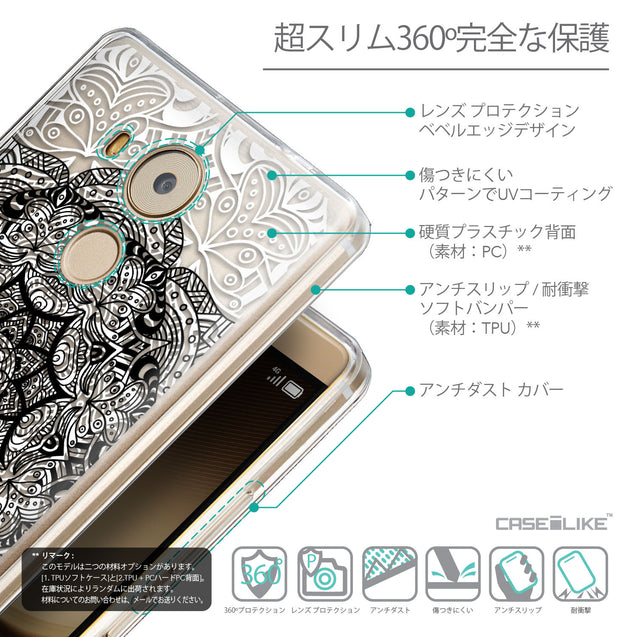 Details in Japanese - CASEiLIKE Huawei Mate 8 back cover Mandala Art 2097