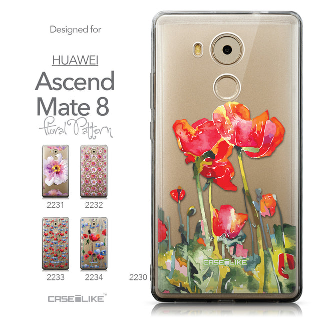 Collection - CASEiLIKE Huawei Mate 8 back cover Watercolor Floral 2230