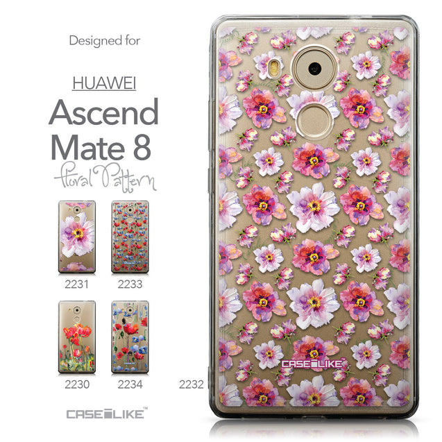 Collection - CASEiLIKE Huawei Mate 8 back cover Watercolor Floral 2232
