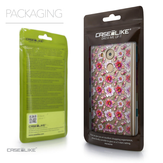 Packaging - CASEiLIKE Huawei Mate 8 back cover Watercolor Floral 2232