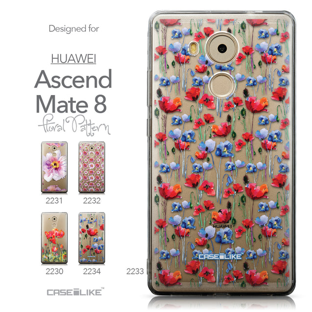 Collection - CASEiLIKE Huawei Mate 8 back cover Watercolor Floral 2233